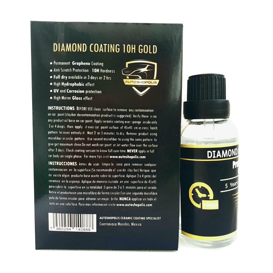 Recubrimiento Ceramico Diamond Coating 10H Gold 5 años 30ML
